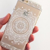 iPhone 6 Case, Hundromi(TM) Plastic Case Cover for Iphone 6 Henna Full Mandala Floral Dream Catcher (For iPhone 6 4.7 inch Screen)