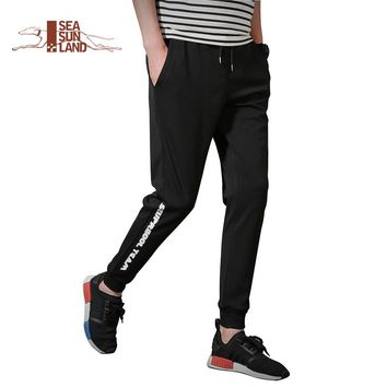 SeaSunLand 4XL Mens Joggers 2017 New Arrival Cargo Men Pants lace-up Sweatpants Harem Pants Men Pants Men Pantalones Hombre