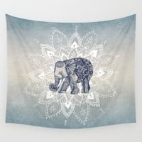 Elephant  Mandala Wall Tapestry by Rskinner1122