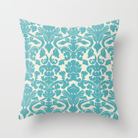 Blue Design Throw Pillow by Lucy Helena