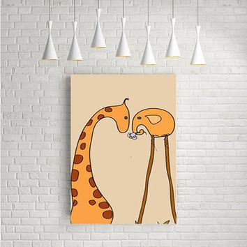 ELEPHANTS AND GIRAFFES ARTWORK POSTERS