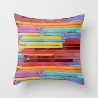 Zippers! Throw Pillow by Raven Jumpo
