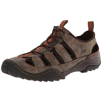 J-41 Mens Timber Vegan Leather Sport Fisherman Sandals
