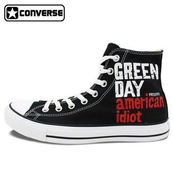 DCCKGQ8 green day painted converse