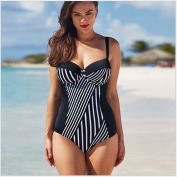 Hot New Arrival Beach Sexy Summer Swimsuit Plus Size Stripes Swimwear Hot Sale Bikini [7767320647]