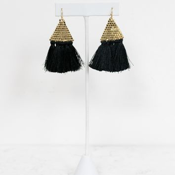 Feather Duster Earring