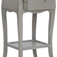 Thelma End Table With Storage Drawer French Grey