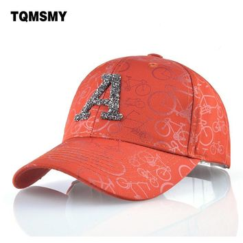 Trendy Winter Jacket Sequins letters A Baseball Cap women Printed bicycle Hip Hop Bone Casual Sun visor hats for men snapback caps gorras Casquette AT_92_12