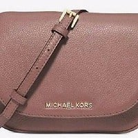 MICHAEL Michael Kors Small Leather Bedford Dusty Rose Crossbody Bag