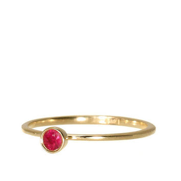Ruby Engagement Gold Ring.