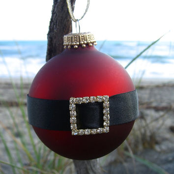 Holiday Ornament-SANTA-Christmas Ornaments, St. Nick, Holiday Gifts, Coastal Holiday, Traditional Christmas Holiday, Santa Claus Ornament