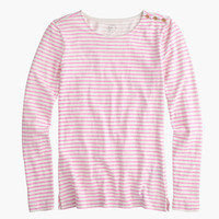 J.Crew Womens Long-Sleeve Striped Painter T-Shirt