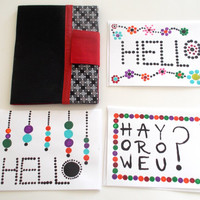 Hello Cards Hand Painted NEW ITEM