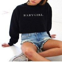 ONETOW Day-First? Comfortable Long Sleeve BABYGIRL Pullover Sweatshirt Tops