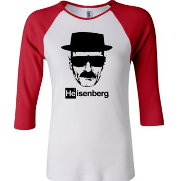 Heisenberg Breaking Bad 3/4 Sleeve Baseball Ladies Jersey