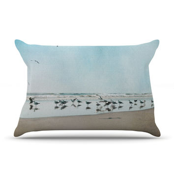 "Sylvia Cook ""Sea Blue"" Coastal Pillow Case"