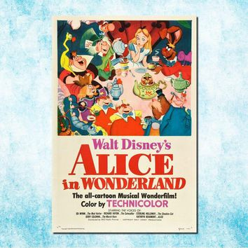Alice in Wonderland Movie Art Silk Canvas Poster Print 13x20 24x36 Cheshire Cat Wall Pictures For Living Room Decor (more)-4