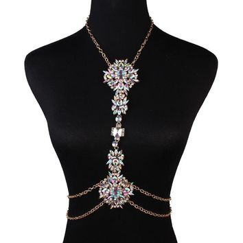 Sexy Body Chain Exaggerated Luxury Crystal