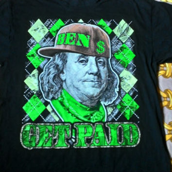 Hot Sales,Clearance stock Rare Vintage Ben Get Paid hip hop shirt sz 3xL made in China