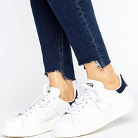 adidas Originals Bold Double Sole White And Black Stan Smith Sneakers at asos.com