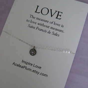 Love Necklace. Diamond Necklace. I Love you to the Moon.  Birthday Gift.  Inspirational. Sister Birthday.  Mother Daughter Necklace