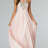 Strapless Low Cut Back Evening Gown from JVN by Jovani