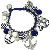 Silver Anchor Rope Bracelet