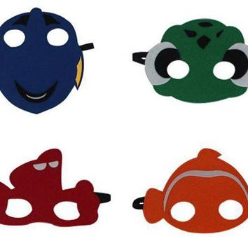 DCCKH6B Finding Dory Nemo Swim Mask Inspired Felt Cartoon Fish Felt Masks children kids Party Costume fancy dress Cos fish