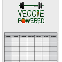 Veggie Powered Blank Calendar Dry Erase Board