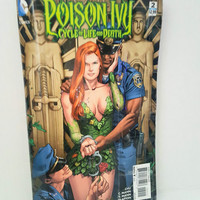 Cool Unique Green Clutch Handbag, Upcycled Poison Ivy Comic Book Purse, Geek Gift for her