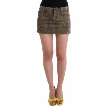 Cavalli Brown cotton mini skirt