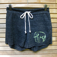 too tired to argue Elephant Yoga Shorts in by nicandthenewfie