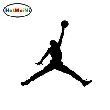 HotMeiNi 13*13cm Michael Jordan Micheal Air Basketball Logo Symbol Car Sticker Vinyl JDM Decal Styling Accessories Black/Sliver