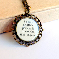 Les Miserables Necklace Quote Neclace Quote Jewelry Le Mis Movie Inspired Musical