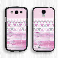 Samsung case,paint wood GALAXY Note3 case,pink geometry GALAXY Note2 case,pink Galaxy S4 case,geometry Galaxy S3 case,girl's Galaxy S5 case