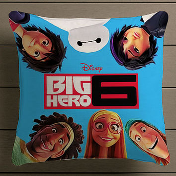 Disney Big Hero 6 movie cover Square Pillow Case Custom Zippered Pillow Case one side and two side