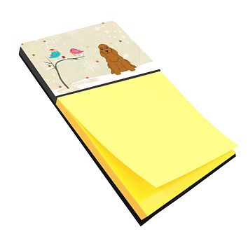 Christmas Presents between Friends Cocker Spaniel Red Sticky Note Holder BB2567SN