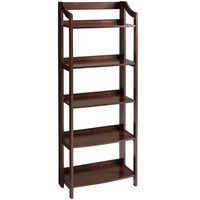 Clifton Tall Folding Shelf - Tobacco Brown