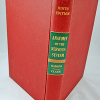 Antique Medical Book -1958 Textbook Anatomy of the Nervous System - Neurosurgeon or Neurologist Gift - GREAT Doctor Gift