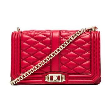 Rebecca Minkoff Love Crossbody in Red