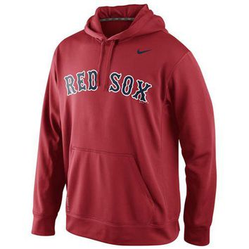 Boston Red Sox Nike MLB Red Fastball Fleece Pullover Hoodie