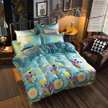 Flower fruit fashion3/4pcs bedding sets bedclothes for kids twin full queen king size bed linen Duvet Cover Bed sheet Pillowcase