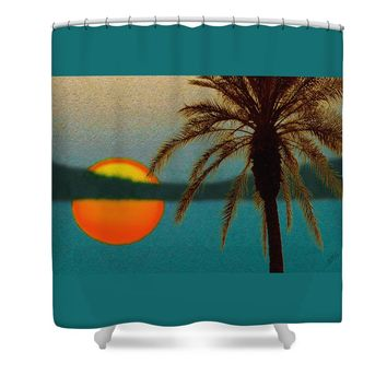 Paradise Sun Shower Curtain for Sale by Ben and Raisa Gertsberg