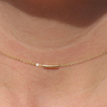 Gold necklace dainty, gold necklace, gold charm necklace, chain necklace, 14k gold, choker, minimalist gold necklace, simple necklace, gold