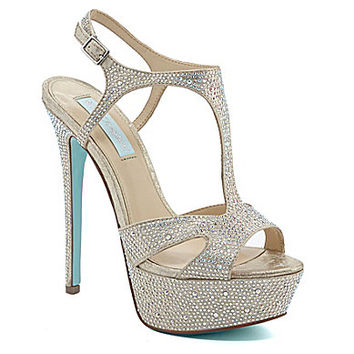 Blue by Betsey Johnson Crush Dress Sandals - Champagne