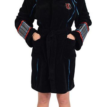 Marvel Ladies Black Widow Avengers Fleece Robe (One Size)