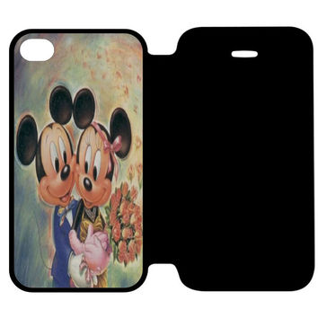 Vintage Mickey Mouse and Minnie Mouse iPhone 4 | 4S Flip Case Cover