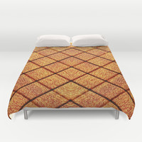 Wooden Texture Tile Duvet Cover by Maxvision