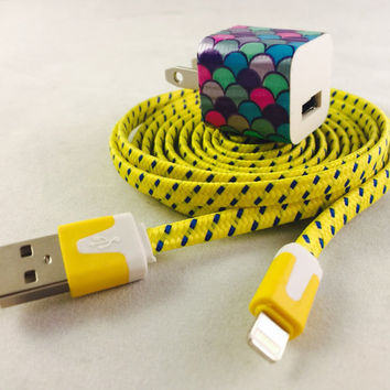 New 6 feet long chargers,  Iphone 5 & 6, fabric phone charger, iphone 5, iphone 6, 360, teens, the360shop, christmas, gifts, usb, fun cord