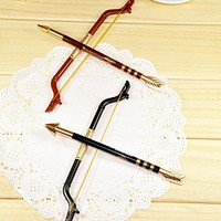 Creative Primary School Stationery Supplies Wholesale Korea Cute Small Gift Bow Sword Pen (1, A)